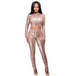 Wholesale Short Pant Jumpsuits For Women - Night Club Two Pieces Jumpsuit Bodysuit For Women Flash Elegant Party Jumpsuit Sequin Bodysuit Women Cropped Overalls Plus Size