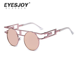 Wholesale Gothic For Men - Metal Frame Steampunk Sunglasses for Women Brand Designer Unique Men Gothic Sun Glasses Vintage Oculos De Sol Feminino