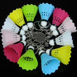 Wholesale Badminton Keychains - Creative Badminton Keychain Fashion Bags Pendant Emulation Plastic Key Chain Novelty Gifts Mixed Colors Free Shipping