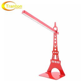 Wholesale Dc Led Dimmer Switch - Touch Dimmer USB Led Desk Lamp And Bookshelf Table Lamps Modern Eiffel Tower Reading Lamp For Living Room Bedroom Lights