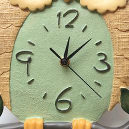 Wholesale Owl Modern Wall Clock - 2016 Modern Design Lovely Owl Forest Antique Wall Clock Chic Clock Home Office Cafe Decoration Art Watch