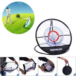 "Wholesale Hit Tools - New Portable 20"" Golf Training Chipping Net Hitting Aid Practice Golf Chipping Pitching Practice Net Training Aid Tool with 2 Stakes"