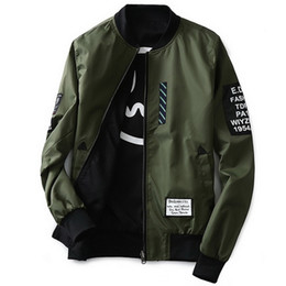 Wholesale Wind Pilot - Grandwish Bomber Jacket Men Pilot with Patches Green Both Side Wear Thin Pilot Bomber Jacket Men Wind Breaker Jacket Men,DA113