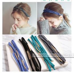 Wholesale Dye Press - Press send jewelry Korea metal arc multilayer cross fine hair with hair bands simple Korean headdress