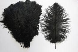 Wholesale Christmas Wedding Fur - Hot Sale 20cm-25cm Cheap Black Ostrich Feather Hair Fur Fabric String For Wedding Table Decoration