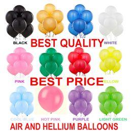Wholesale Black Large Pearls - 100 LARGE Helium High Quality Party Birthday Wedding Balloons baloons 2.8 g Thickening 12 Inch Pearl Balloons Birthday Party Wedding Decorat