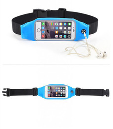 Wholesale Elastic Running Belt - Waterproof Running Belt For iPhone 7 Plus 6 6S phone Sports Waist Bag Reflective Pouch Breathable Sport Waist Belt Elastic Adjustable Band