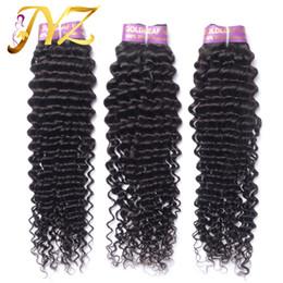 Wholesale feel hair - Great Length Hair Extensions Deep Curly Durable Brazilian Hair Wefts Look Shiny Feel Good Top Quality Malaysian Human Hair Weft 3pcs Lot