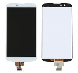 Wholesale Change Lcd - good quality orignal lcd change glass For Lg K10 K410 K420N K430 Lcd Display Touch screen digitizer white color