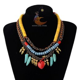 Wholesale mexican costume jewelry - classic HOT New brand bohemia Costume Jewelry fashion women heart pendant multilayer chain Necklaces wholesale 3