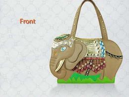 Wholesale Elephant Shaped Beads - Amliya 2016 New arrival Tailand ceative elephant shape single shoulder bag Fashion unique shape women cross body handbags