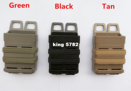 Wholesale Airsoft Bags - The triple gear bag quick magazine MOLLE Airsoft fast MAG MOLLE pouch clip   5.56 mm fast mag M4 magazine pouch holster