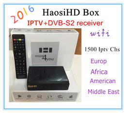 Wholesale Iptv Receiver Box Arabic Channels - 2017Best Upgraded version Arabic iptv box support Liunx version +DVB-2 receiver free watching 2000+ Arabic Eurpo Africa channels+USB WIFI