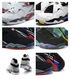 Wholesale Canvas Aqua - High Quality Air Retro Alternate AQUA 8s RELEASE 8s BG GS THREE-PEAT 8s sneakers basketball shoes Sports shoes For Men and Women