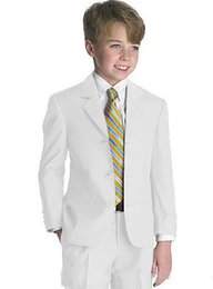 Wholesale Style Complete Designer Boy - Kid Clothing New Style Complete Designer Boy Wedding Suit Boys' Attire Best Quality Kid Boy Tuxedos Formal Wear Suit For Boy(Jacket+Pants)