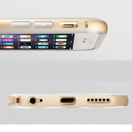 Wholesale Iphone Retail Bumper Aluminium - Samsung s6 s6 edge Metal CASE Aluminium Frame Bumper Bumpers Soft Clear Transparent Crystal TPU cover case for iphone 6 with Retail package