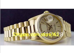 Wholesale Mens Gold Silver Watches - Limited Edition Mens Men's 18kt Gold 36mm President - Silver Stick 18238 SANT BLANC box WatchChes High Quality Watches