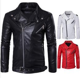 Wholesale Wholesale Outdoor Jackets - Jackets Men Casual Leather Coats Winter Outerwear Leisure Jumper Slim Fashion Overcoat Zipper Top Outerwear Outdoor Men's Clothing KKA3048