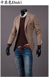 Wholesale Cool Slim Men Blazer - Businessman Blazers Slim Fashion Cool Suit For Men Autumn Wear Long Sleeve Solid Design Men Blazer With Single Breasted Suits J160720