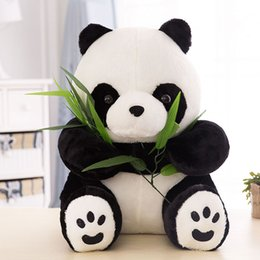 Wholesale Chinese Doll Wholesale - XS Chinese Animal Giant Panda Plush Toys for Girl & Children Gift Bamboo Panda Doll Wholesale