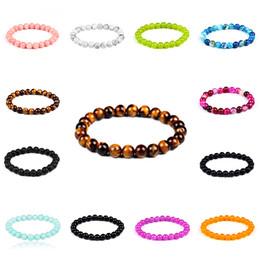 Wholesale Multi Color Bead Bracelet - Tibet Tibetan Multi color Natural lava stone Buddha bead bracelet unisex spacer handmade beaded strands flexible bracelet free shipping