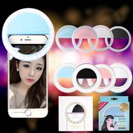Wholesale Camera Ring Iphone - 2017 selfie Light LED Ring Fill Light Supplementary Lighting Camera Photography For Samsung Galaxy S8 iPhone 7 6 6s LG Sony Free shipping