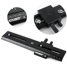 Wholesale Tripod Slider Rail - Wholesale-2016 Tripod Head LP-02 Metal Macro Focus Rail Slider Plate For DV Mini Camcorder D610 D800 D800E D4 D7000 D7100 DSLR Camera