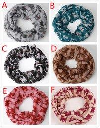 Wholesale Cheap Wool Scarves - 50pcs Fashion cheap Chevron Wave Print Scarf Circle Loop Infinity Scarves Women Pattern Multi color printing Voile Stripe Ring F404