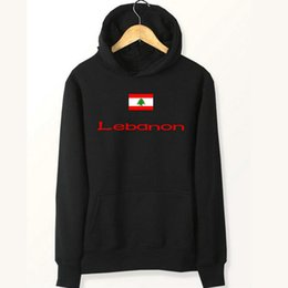 Wholesale Matching Sweats - Lebanon flag hoodies Country match play sweat shirts Fleece clothing Pullover coat Outdoor sport jacket Brushed sweatshirts