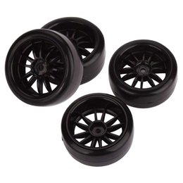 Wholesale rc car rims drift - 4pcs 12mm Hub Wheel Rims & Smooth Tires for RC 1 10 Racing Drift Sport Car F036