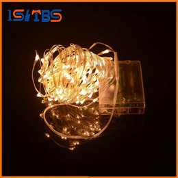 Wholesale Outdoor Solar Light Batteries - 2017 AA Battery Power Operated LED Copper Silver Wire Fairy Lights String 50Leds 5M Christmas Xmas Home Party Decoration Seed Lamp Outdoor