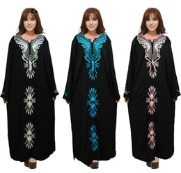 Wholesale New arrived Turkish women clothing abaya Muslim Dresses Garments Islamic Clothing For lady Dubai Kaftan Jilbabs Embroidery Abayas Maxi Dress