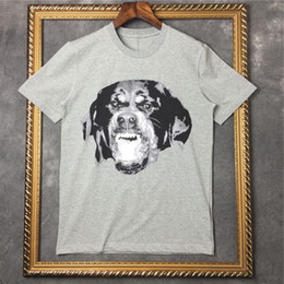 Wholesale Rottweiler Top - brand tag fashion men short sleeve 2016 star Rottweiler 3D print t-shirt short sleeve tshirt cotton tee t shirt top Camiseta