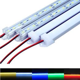 Lámparas de tira para 12v online-50cm 100cm DC12V Luz de barra LED de alto brillo 5630 Con cubierta de PC Luz LED Tira dura de LED Luz de gabinete Lámpara de pared