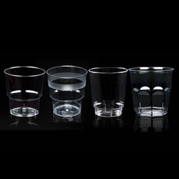 Wholesale Transparent Plastic Type - 200Ml Disposable Airline Water Cups Transparent Clear Cups Hard Plastic Disposable Drink Cup 4 Types 100Pcs Set Customized Available