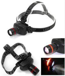 Wholesale Head Gear Led - 3W Mini Headlight 500 Lumens LED Headlamps Sports Outdoor Gear Hiking Camping Flashlight Lamp Head Torch