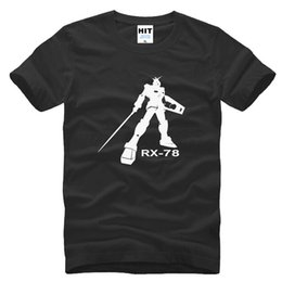 Wholesale Anime Gundam - WISHCART anime cartoon character EXIA Gundam RX-78 T Shirt Tshirt Mens Men 2016 New Short Sleeve Cotton T-shirt Tee Camisetas Hombre