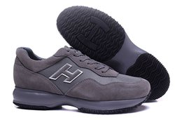 Wholesale Italy Brand Leather Shoes - 2017 Hot Hogans mens Walking Shoes Top Quality Glitter Leisures Italy Brand Shoes Interactive Outdoor H Casual Shoes