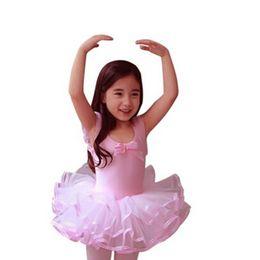 Wholesale Little Girl Suspender Style - Little Girls' Short Sleeve Tiered Tutu Ballet Party Dresses Baby Tollder Girl Consplay Dance Dress 2-6Y