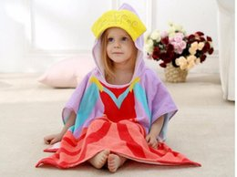 Wholesale Wholesale Hooded Towels For Kids - Bath Towel New Cartoon Animal Baby Frozen Hooded Bathrobe Infant Bathing Robe For Children Kids Bathrobe Pajamas