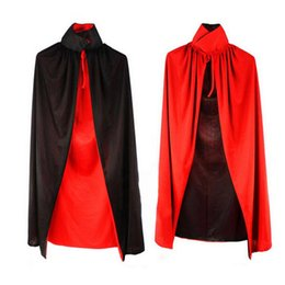 Wholesale Shirt Halloween Adult - Wholesale-Superior Halloween Cloak Masquerade Cos Props Small Devil Horns Gowns For Adult July 26