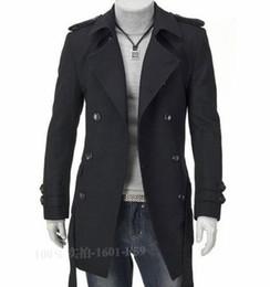 Wholesale Classic Khaki Trench Coat - Fall-2016 Winter Charm Men Vintage Trench coat Elegant Man Windproof Coat Black,khaki M-4XL Classic Design Men Trench Coat