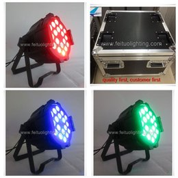 Wholesale Par Can Bulb - free shipping with flight case 6xlot high quality 18x15w rgbwa 5 in 1 led par led 64 can light dmx stage lighting