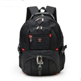 Wholesale Laptop Bags Backpack Style - Wholesale- Top quality Swiss Multifunctional laptop bag Backpack for 15.6 inch laptop Schoolbag Travel Bags 8112
