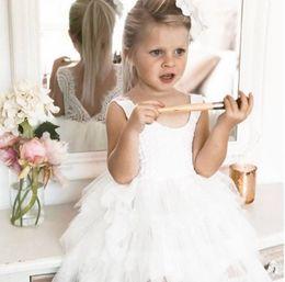 Wholesale Layered Tutu Child Skirt - 2018 Summer New Girl Dress gauze Layered Sleeveless Bubble Skirt Children Clothing 2-7Y WGX2001