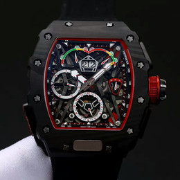 Wholesale Automatic Sports Cars - Europe and the United States top luxury brand AAA men's watch RM50-03 316 Titanium carbon fiber automatic sports car series