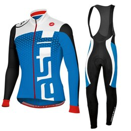 Wholesale Custom Team Clothing - 2017CASTELLI winter cycling clothes and team custom riding clothes for long sleeved long sleeved trousers
