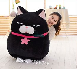 Wholesale Giant Gifts - Dorimytrader Jumbo 80cm Japan Anime AMUSE Cat Toy Soft Plush Cartoon Giant 31'' Cats Doll Gift 3 Colors Great Gift Free Shipping DY61119