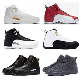 Wholesale Play Tables - OVO Rretro 12 Basketball Shoes Gym Red Retro Shoes 12s with box, 12s Flu Game Play offs Gamma Blue PSNY Taxi Cherry
