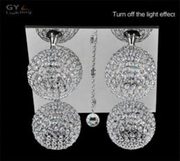 AC100-240V 40 * 40 * 24 cm E14 bombillas de cristal lámpara de techo de cristal 4 unids bola de cristal hogar moderno hotel salón lustres iluminación desde fabricantes
